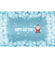 template for winter christmas project turquoise vector image vector image