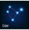 The constellation Crater star in the night sky vector image vector image