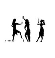 three girls womens ladys drinking drunk people vector image vector image