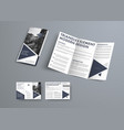 tri-fold brochure design in modern style with vector image vector image