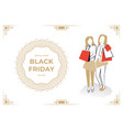 two women holding bags vector image vector image