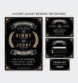 Unique Luxury Wedding Invitations Template vector image vector image