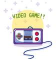 videogame retro gamepad vector image