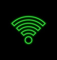 wi-fi neon sign bright glowing symbol on a black vector image
