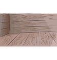 Wooden floor and walls vector image vector image