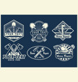 work tools badge design collection vector image vector image