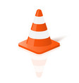 Realistic traffic cone in vector image