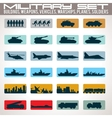 Military Icons Set vector image