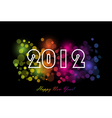 2012 - new year background vector image vector image