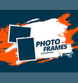 abstract grunge style photo frames background