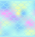 aqua fish scale seamless pattern magic vector image