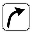 arrow sign button vector image vector image