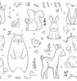baby pattern vector image