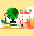 back to school banner or landing page in flat vector image