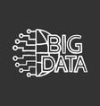 big data chalk icon vector image vector image