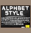 blackboard alphabet vector image vector image