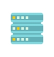 Cell for data storage icon flat style vector image vector image