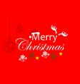 christmas logo template vector image vector image