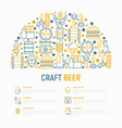 craft beer concept in half circle vector image vector image