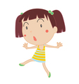 Cute Girl dancing vector image vector image