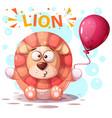cute lion character - cartoon vector image vector image