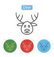 deer icon christmas reindeer image vector image vector image