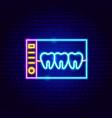 dental x-ray neon sign vector image
