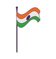 flag india icon cartoon vector image vector image