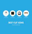 flat icon electronics set of resist bobbin cpu vector image vector image