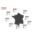 france map shape infographics vector image