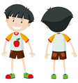 Front and back of a boy vector image vector image
