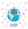 Global Company Concept vector image vector image