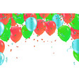 happy birthday confetti and ribbons gold orange vector image vector image