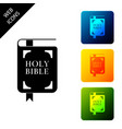 holy bible book icon isolated set icons colorful vector image vector image
