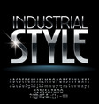 industrial style silver vector image vector image