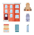 isolated object of facade and building logo vector image