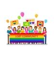 LGBT community Gay parade holiday festival vector image vector image