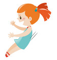 little girl in blue on the side vector image vector image