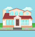 luxury countryside house flat vector image