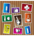 medical and healtcare icons vector image