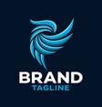 modern parrot bird logo vector image vector image