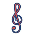 music note isolated icon vector image vector image