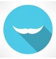 Mustache Icon vector image vector image
