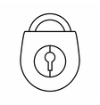 Padlock icon outline style vector image