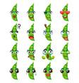 peas emoji emoticon expression funny cute food vector image vector image