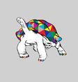 Rainbow Turtle vector image vector image