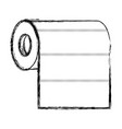 roll paper towel in monochrome blurred silhouette vector image vector image