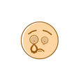 sad cartoon face crying negative people emotion vector image vector image