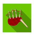 scottish bagpipes icon in flat style isolated on vector image vector image
