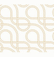 seamless background with marine rope vector image vector image